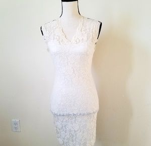 The VINTAGE Shop Women's White Lace Dress